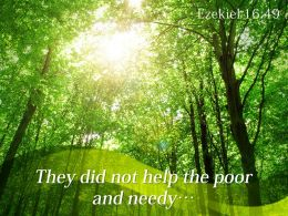 Ezekiel 16 49 They Did Not Help The Poor Powerpoint Church Sermon