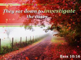 Ezra 10 16 They sat down to investigate PowerPoint Church Sermon