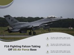 F16 Fighting Falcon Taking Off US Air Force Base