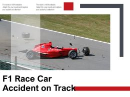 F1 Race Car Accident On Track