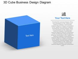 fa 3d Cube Business Design Diagram Powerpoint Template