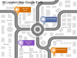 Fa 3d Location Map Google Earth Flat Powerpoint Design