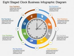 Fa Eight Staged Clock Business Infographic Diagram Flat Powerpoint Design