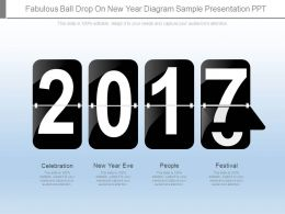 Fabulous Ball Drop On New Year Diagram Sample Presentation Ppt