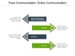 Face Communication Online Communication Ppt Powerpoint Presentation Layouts Visuals Cpb