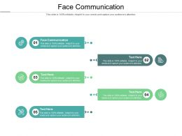 Face Communication Ppt Powerpoint Presentation Icon Skills Cpb