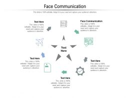 Face Communication Ppt Powerpoint Presentation Styles Icons Cpb