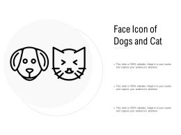 Face Icon Of Dogs And Cat