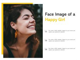 Face Image Of A Happy Girl