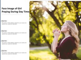 Face Image Of Girl Praying During Day Time
