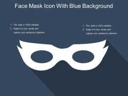 Face Mask Icon With Blue Background