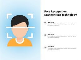 Face Recognition Scanner Icon Technology