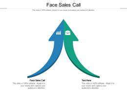 Face Sales Call Ppt Powerpoint Presentation Ideas Backgrounds Cpb