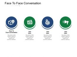 Face To Face Conversation Ppt Powerpoint Presentation Professional Guide Cpb
