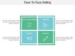 Face To Face Selling Ppt Powerpoint Presentation Ideas Templates Cpb