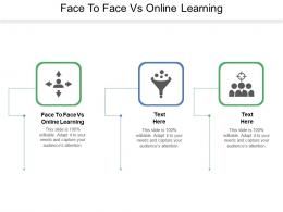 Face To Face Vs Online Learning Ppt Powerpoint Presentation File Slide Cpb