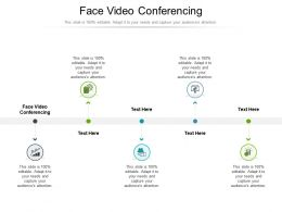 Face Video Conferencing Ppt Powerpoint Presentation Portfolio Icons Cpb