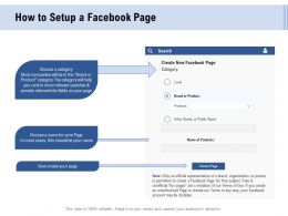 Facebook Advertising How To Setup A Facebook Page Ppt Powerpoint Presentation Slides Graphic Tips