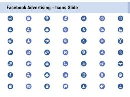 Facebook Advertising Icons Slide Ppt Powerpoint Presentation Professional Format Ideas