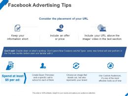 Facebook Advertising Tips Ppt Powerpoint Presentation Styles Slide