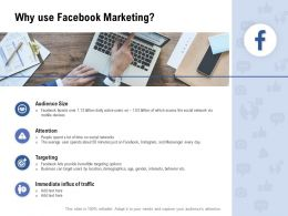 Facebook Advertising Why Use Facebook Marketing Ppt Powerpoint Presentation Infographic