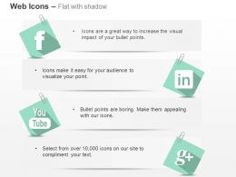 Facebook Linkdin Google Plus Youtube Ppt Icons Graphics
