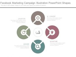 Facebook Marketing Campaign Illustration Powerpoint Shapes