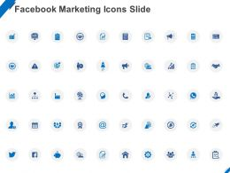 Facebook Marketing Icons Slide Ppt Powerpoint Presentation Ideas Inspiration