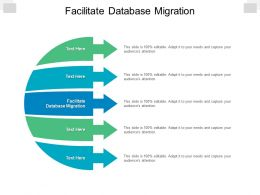 Facilitate Database Migration Ppt Powerpoint Presentation Visual Aids Example 2015 Cpb