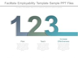Facilitate Employability Template Sample Ppt Files