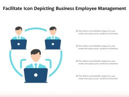 Facilitate Icon Depicting Business Employee Management