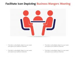 Facilitate Icon Depicting Business Mangers Meeting