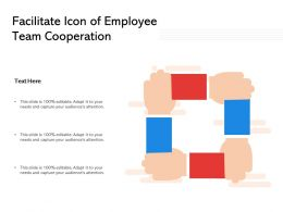 Facilitate Icon Of Employee Team Cooperation