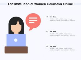 Facilitate Icon Of Women Counselor Online
