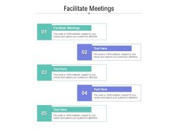 Facilitate Meetings Ppt Powerpoint Presentation Professional Graphics Cpb