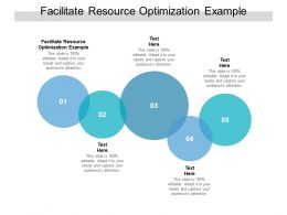 Facilitate Resource Optimization Example Ppt Powerpoint Presentation Slides Information Cpb