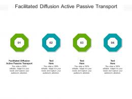 Facilitated Diffusion Active Passive Transport Ppt Powerpoint Presentation Layouts Cpb
