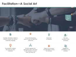 Facilitation A Social Art Being Met Ppt Powerpoint Presentation Slides Graphics Example