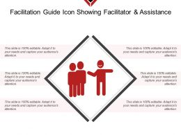 Facilitation Guide Icon Showing Facilitator And Assistance