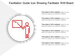 Facilitation Guide Icon Showing Facilitator With Board