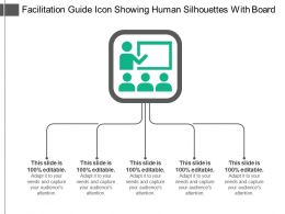 Facilitation Guide Icon Showing Human Silhouettes With Board
