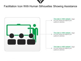 Facilitation Icon With Human Silhouettes Showing Assistance
