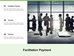 Facilitation Payment Ppt Powerpoint Presentation Pictures Example Cpb