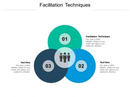 Facilitation Techniques Ppt Powerpoint Presentation Show Example Cpb