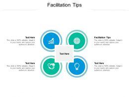 Facilitation Tips Ppt Powerpoint Presentation Portfolio Structure Cpb