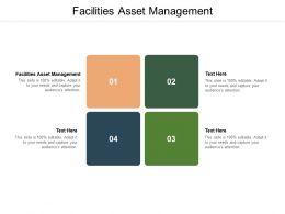 Facilities Asset Management Ppt Powerpoint Presentation Inspiration Deck Cpb
