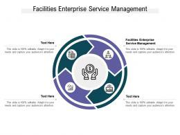 Facilities Enterprise Service Management Ppt Powerpoint Presentation Slides Deck Cpb
