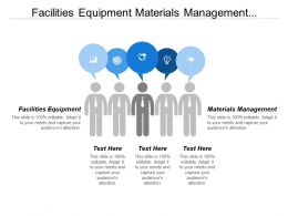 Facilities Equipment Materials Management Information System Policies Procedures
