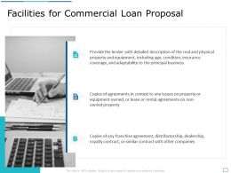 Facilities For Commercial Loan Proposal Ppt Powerpoint Presentation Icon Styles