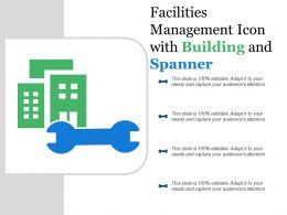 Facilities Management Icon With Building And Spanner